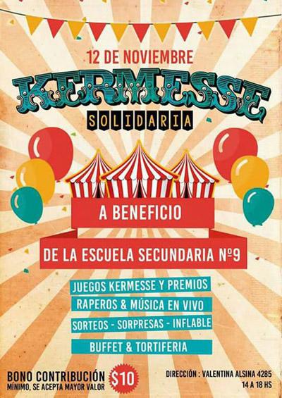 Kermesse Solidaria A Beneficio De La Escuela Secundaria 9 Consejo