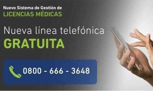 Licencias Médicas: nueva línea telefónica gratuita