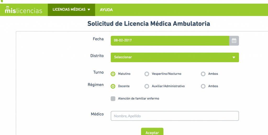 Licencias médicas a través del Portal ABC